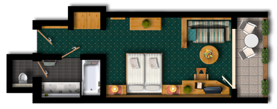Double Room Tyrolean Style-plan